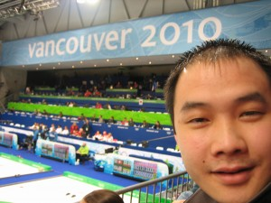 Proof that we were at the 2010 curling event!