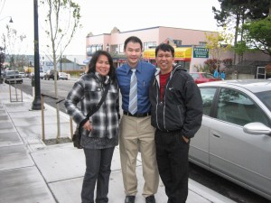 A family I knew from my mission lives in Vancouver now