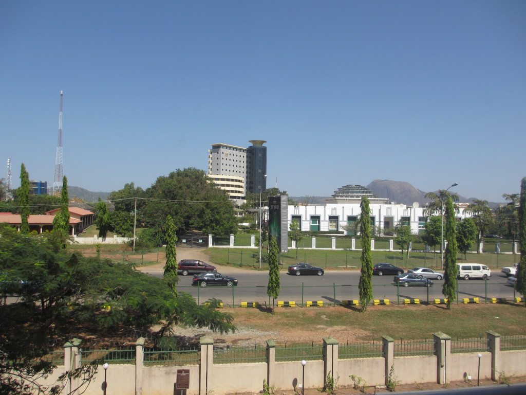 View from my hotel room in Abuja