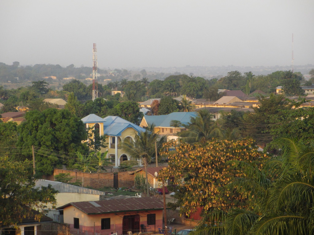 View from the hotel in Makurdi