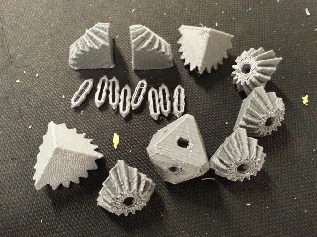 Unassembled gear cube parts